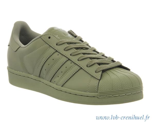 Adidas Superstar Vert Kaki Femme cs