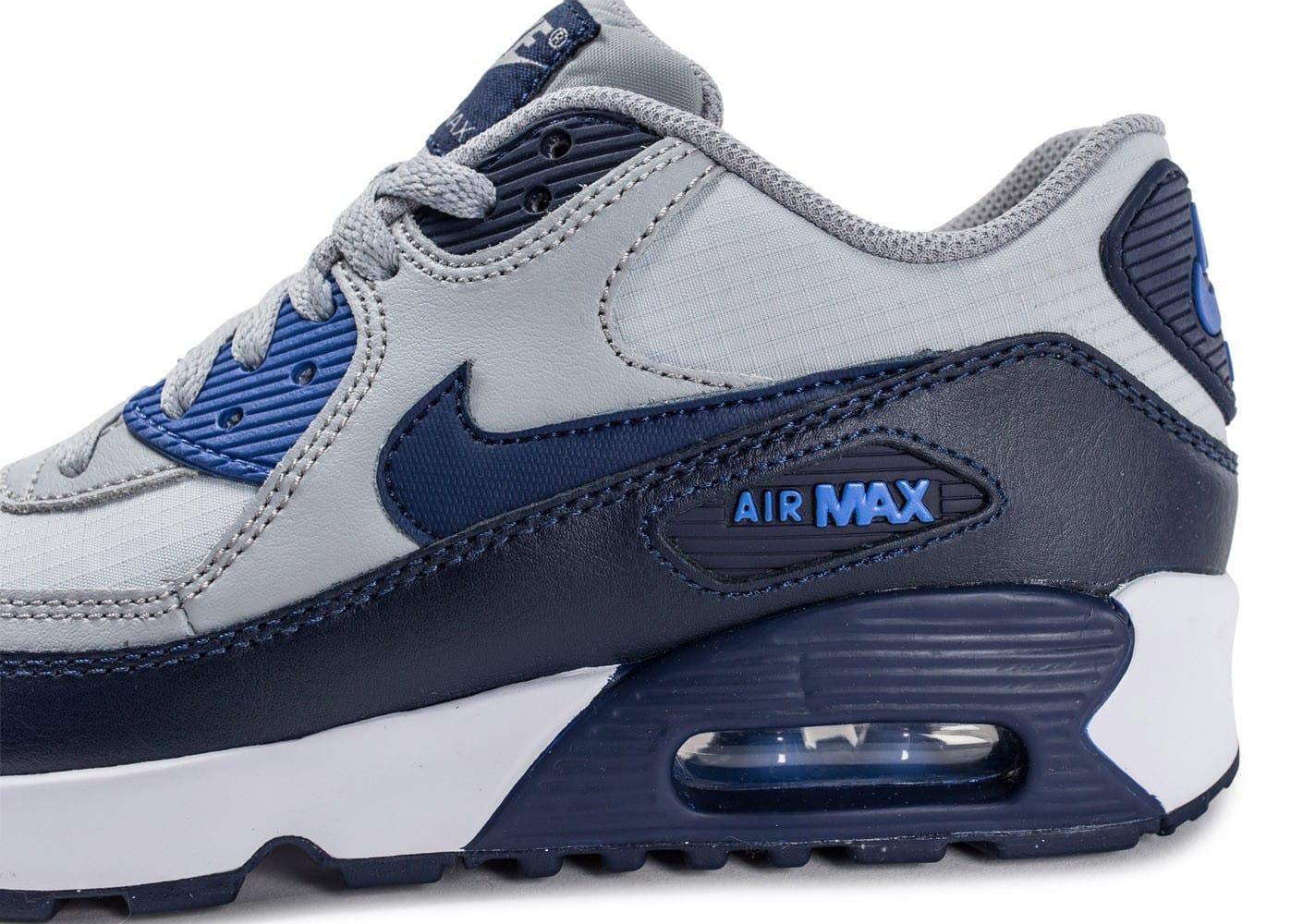 air max 90 grise et bleu