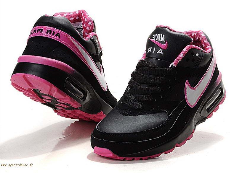 air max rose et noir femme
