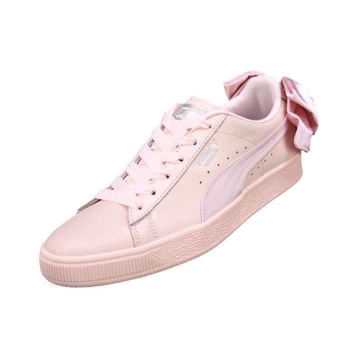 basquette femme puma rose