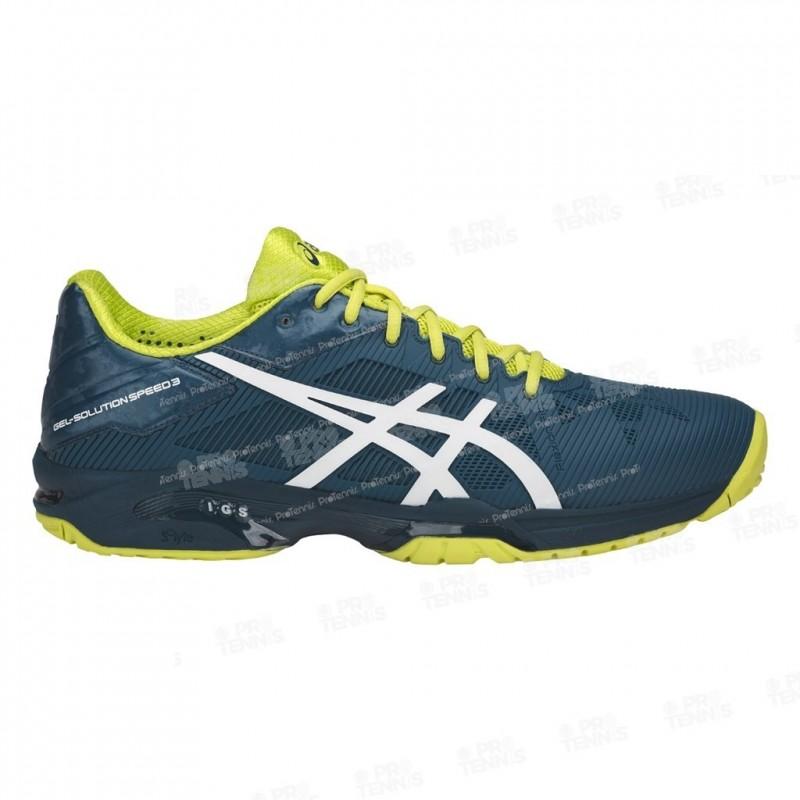 asics chaussure jaune et bleu