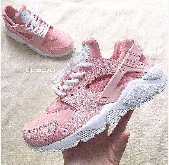 nike huarache rose pastel