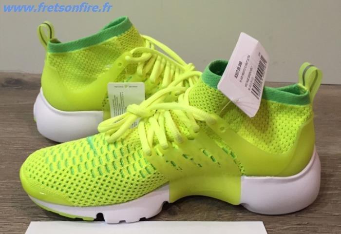 best supplier best shoes recognized brands nike presto flyknit jaune fluo